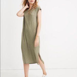 Madewell Green Muscle T Shirt Dress, M